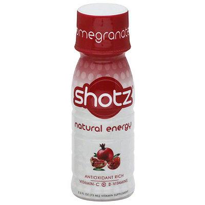 Shotz Natural Energy Pomegranate Vitamin Supplement, 2.5 fl oz, (Pack of 12)