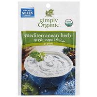 Simply Organic Mediterranean Herb Greek Yogurt Dip Mix, 1 oz, (Pack of 12)