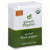 Simply Organic Ground Black Pepper, 4 oz, (Pack of 6)