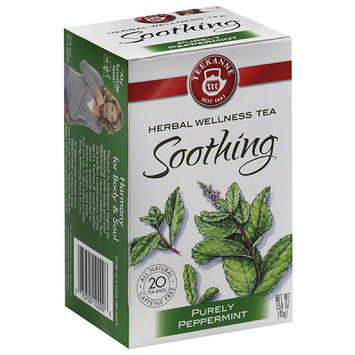 Teekanne Wellness Purely Peppermint Herbal Wellness Tea Bags, 1.59 oz, (Pack of 6)