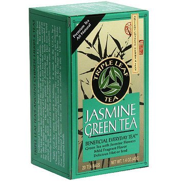 Triple Leaf Tea Jasmine Green Tea Bags, 20 count, (Pack of 6)