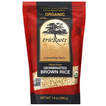 Truroots tru Roots Organic Whole Grain Germinated Brown Rice, 14 oz, (Pack of 6)
