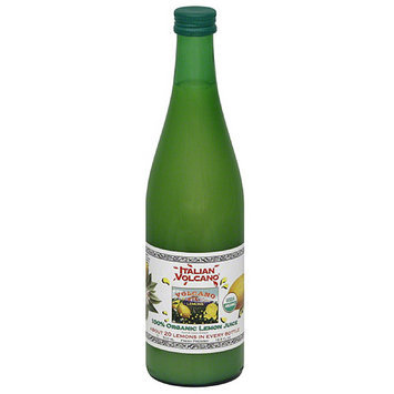 Italian Volcano 100% Organic Lemon Juice, 16.9 fl oz, (Pack of 12)