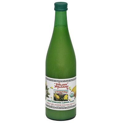 Italian Volcano 100% Organic Lemon Juice, 16.9 fl oz, (Pack of 12)