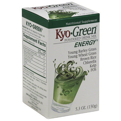Kyolic Kyo-Green Energy Nutritional Supplement Powdered Drink Mix, 5.3 oz