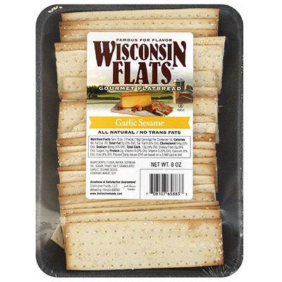 Wisconsin Flats Garlic Sesame Gourmet Flatbread, 8 oz, (Pack of 10)