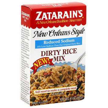 Zatarain's New Orleans Style Reduced Sodium Dirty Rice Mix, 8 oz, (Pack of 12)