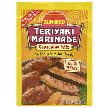 Sunbird Sun-Bird Teriyaki Marinade Seasoning Mix, 1.25 oz, (Pack of 24)