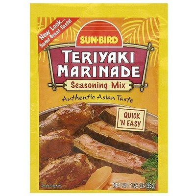 Sunbird Sun-Bird Teriyaki Marinade Seasoning Mix, 1.25 oz, (Pack of 24)