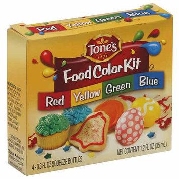 Tone's Food Color Kit, 1.2 fl oz, (Pack of 72)