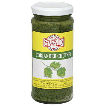 Swad Coriander Chutney, 7.5 oz, (Pack of 12)