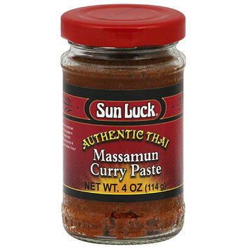 Sun Luck Authentic Thai Massamun Curry Paste, 4 oz, (Pack of 12)