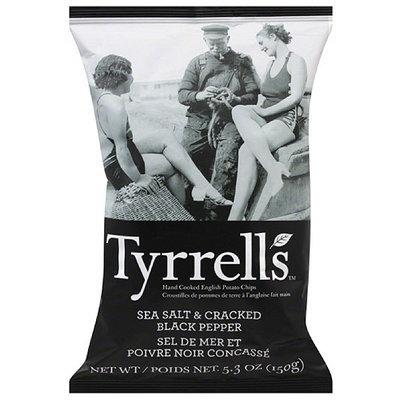 Tyrrell's Sea Salt & Cracked Black Pepper English Potato Chips, 5.3 oz, (Pack of 12)