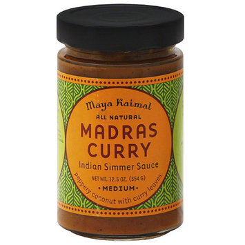 Maya Kaimal Madras Curry Medium Indian Simmer Sauce, 12.5 oz, (Pack of 6)