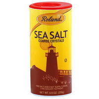 Roland Sea Salt Coarse Crystals, 8.8 oz, (Pack of 12)