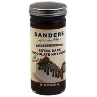 Sanders Fine Chocolatiers Extra Dark Chocolate Hot Fudge Dessert Topping, 10 oz, (Pack of 6)