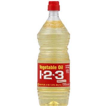 1-2-3 Vegetable Oil, 33.8 fl oz, (Pack of 12)