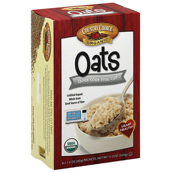Country Choice Organic Quick Cook Steel Cut Oats, 11.2 oz, (Pack of 6)