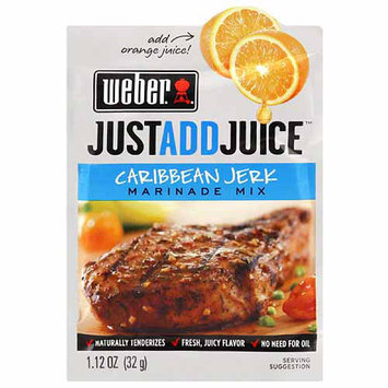 Weber Just Add Juice Caribbean Jerk Marinade Mix, 1.12 oz, (Pack of 12)
