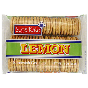 Sugar Kake SugarKake Lemon Sandwich Cookies, 13 oz, (Pack of 12)