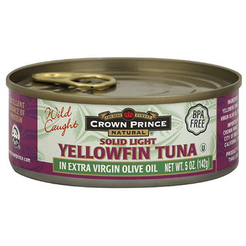 Crown Prince Solid Light Yellowfin Tuna in Extra Virgin Olive Oil, 5 oz, (Pack of 12)