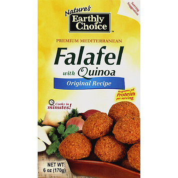 Natures Earthly Choice Nature's Earthly Choice Falafel with Quinoa, 6 oz, (Pack of 6)