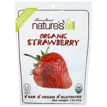 Natures All Nature's All Foods Freeze-Dried Organic Strawberries, 1.2 oz, (Pack of 12)
