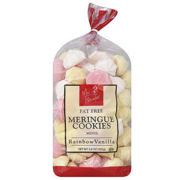 Miss Meringue Rainbow Vanilla Fat Free Meringue Cookies Minis, 5.8 oz, (Pack of 12)