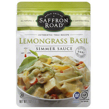 Saffron Road Lemongrass Basil Simmer Sauce, 7 oz, (Pack of 8)