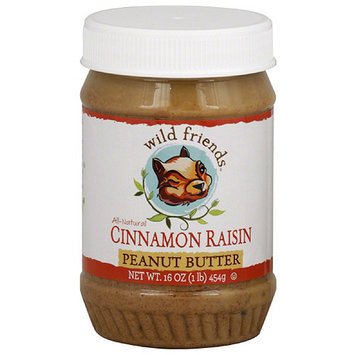 Wild Friends Cinnamon Raisin Peanut Butter, 16 oz, (Pack of 6)