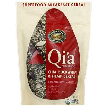 Nature's Path Organic Qi'a Cranberry Vanilla Chia, Buckwheat & Hemp Cereal, 7.9 oz, (Pack of 10)