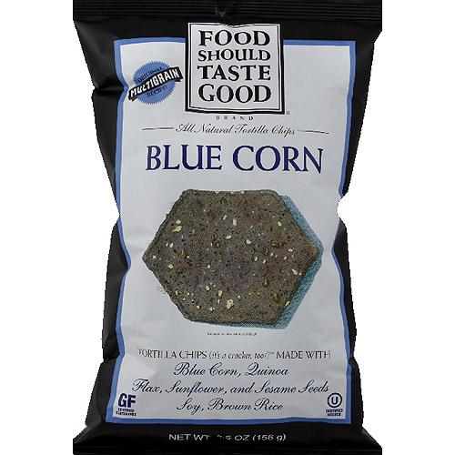Food Should Taste Good Blue Corn All Natural Tortilla Chips, 5.5 oz, (Pack of 12)