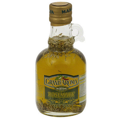 Mantova Grand Aroma Rosemary Flavored Extra Virgin Olive Oil, 8.5 fl oz, (Pack of 6)