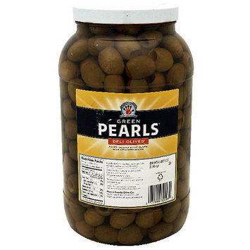 Musco Family Olive Co. Green Pearls Deli Olives, 64 oz, (Pack of 4)
