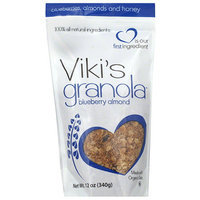 Vikis Granola Viki's Granola Blueberry Almond, 12 oz, (Pack of 6)