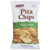 Kangaroo Garlic Herb Pita Chips, 9 oz, (Pack of 12)