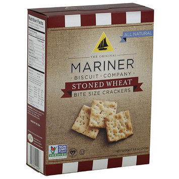The Original Mariner Biscuit Company Stoned Wheat Bite Size Crackers, 8.8 oz, (Pack of 12)