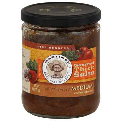 Martinez Medium Gourmet Thick Salsa, 1 lb, (Pack of 6)
