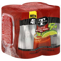 Mr & Mrs T Original Bloody Mary Mix, 5.5 fl oz, 4 pack, (Pack of 6)