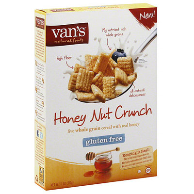 Vans Van's Natural Foods Honey Nut Crunch Cereal, 11 oz, (Pack of 6)