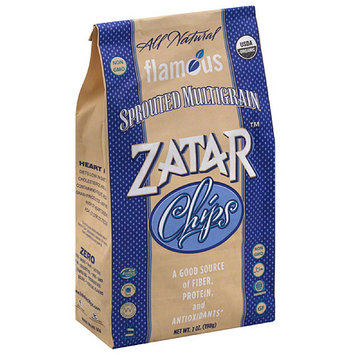 Flamous Zatar Sprouted Multigrain Chips, 7 oz, (Pack of 12)