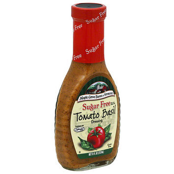 Maple Grove Farms of Vermont Sugar Free Tomato Basil Dressing, 8 fl oz, (Pack of 6)
