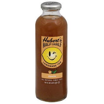 Huberts Hubert's Half & Half Peach Lemonade Tea, 16 fl oz, (Pack of 12)