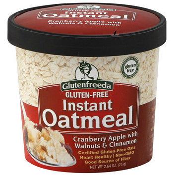 Glutenfreeda's Glutenfreeda Cranberry Apple with Walnuts & Cinnamon Instant Oatmeal, 2.64 oz (Pack of 12)