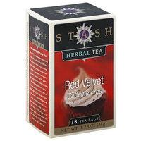 Stash Tea Stash Red Velvet Caffeine Free Herbal Tea Bags, 18 count, 1.2 oz, (Pack of 6)