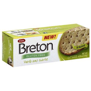 Dare Breton Herb and Garlic Gluten Free Crackers, 4.76 oz, (Pack of 6)