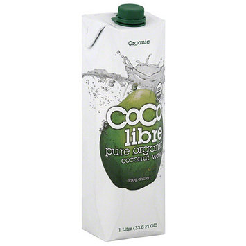 Coco Libre Pure Organic Coconut Water, 1 l, (Pack of 12)