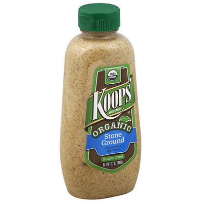 Koop's Koops' Organic Stone Ground Mustard, 12 oz, (Pack of 12)