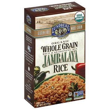 Lundberg Family Farms Organic Whole Grain Jambalaya Rice & Seasoning Mix, 6 oz, (Pack of 6)