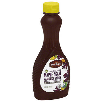 Madhava Honey Madhava Organic Maple Agave Pancake Syrup, 11.75 fl oz, (Pack of 6)